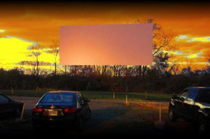 The screen at the Holiday Auto Theatre. outside my hometown.