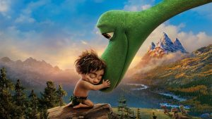 Arlo and Spot from The Good Dinosaur