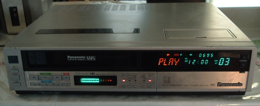Our VCR was a Panasonic Omnivision, a lot like this model.